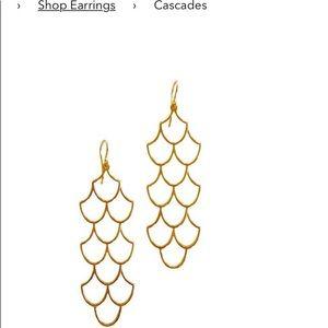 Keani Hawaii Jewelry - Keani Jewelry Hawaii Cascade Earrings Gold Plated